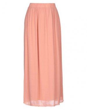 Длинная юбка CARACTÈRE. Цвет: телесный