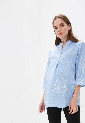 Блуза I Love Mum Жасмин. Цвет: голубой