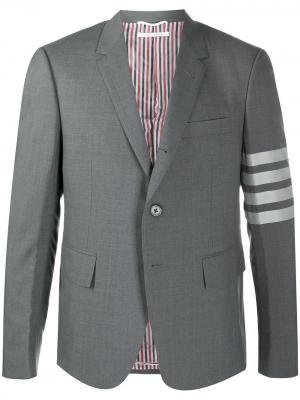 Four-Bar fitted blazer Thom Browne. Цвет: 035 med grey