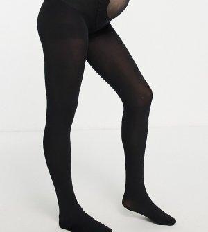 Черные колготки плотностью 120 ден ASOS DESIGN Maternity-Черный цвет Maternity