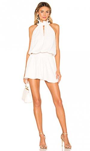 Мини платье kimmie Amanda Uprichard. Цвет: белый