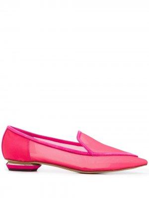 Лоферы Beya с заостренным носком Nicholas Kirkwood. Цвет: розовый
