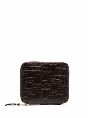 Кошелек с тисненым логотипом Comme Des Garçons Wallet. Цвет: коричневый