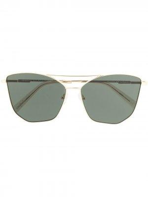 Солнцезащитные очки Primeval Alt Fit в оправе кошачий глаз Le Specs. Цвет: золотистый