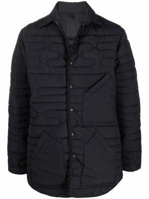 Стеганая куртка-рубашка на кнопках Y-3. Цвет: черный