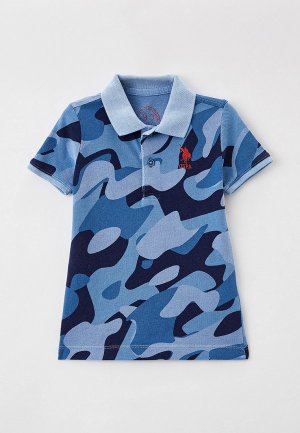 Поло U.S. Polo Assn.. Цвет: голубой