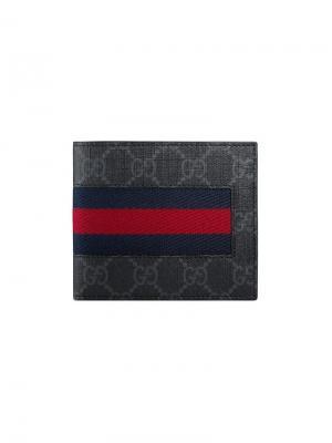 GG Supreme Web coin wallet Gucci. Цвет: черный