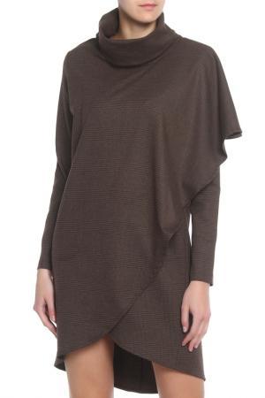 Платье-туника Adzhedo. Цвет: коричневый