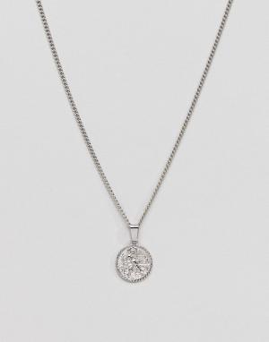 Серебристое ожерелье с подвеской-монетой эксклюзивно от -Серебряный Liars & Lovers
