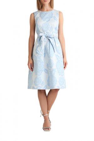 Жаккардовое платье Apart. Цвет: голубой