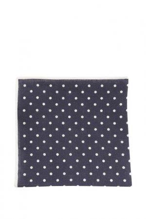 Карманный платок FABIO INGHIRAMI. Цвет: темно-синий в белые кружочки