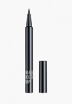 Подводка для глаз Make Up Factory Full Control Liquid т.01 черный, 1 мл. Цвет: черный