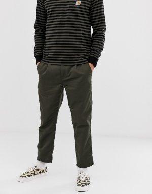 Зеленые укороченные суженные книзу брюки классического кроя Abbott-Зеленый Carhartt WIP