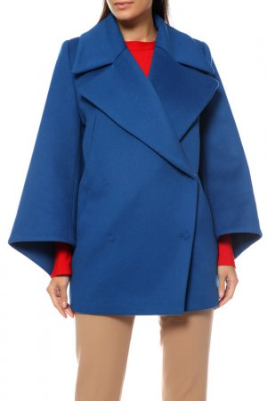 Пальто Анора. Цвет: ярко-синий