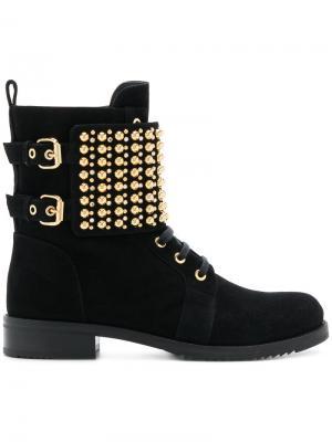 Ботинки высотой до щиколотки с заклепками Loriblu. Цвет: черный