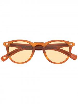 Солнцезащитные очки Hampton x Sun в круглой оправе Garrett Leight. Цвет: оранжевый