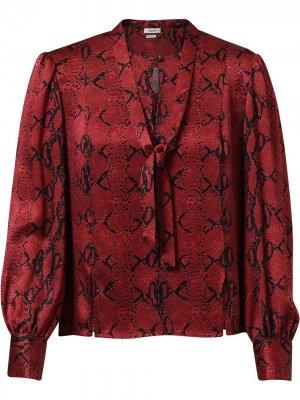 Блузка со змеиным принтом Jason Wu. Цвет: красный