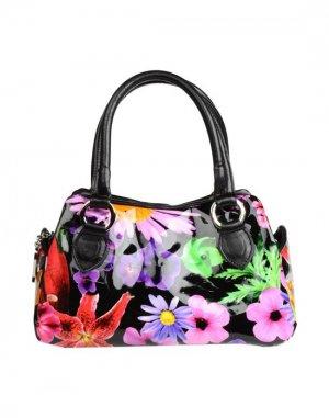 Средняя кожаная сумка BRUNO AMARANTI. Цвет: черный