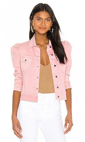 Джинсовая куртка ada retrofete. Цвет: розовый