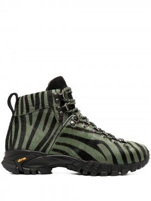 Ботинки хайкеры с зебровым принтом Diemme. Цвет: зеленый