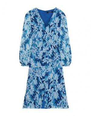 Платье миди BADGLEY MISCHKA. Цвет: синий