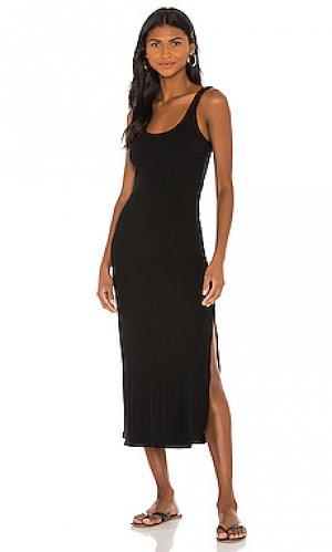 Платье миди west vitamin A. Цвет: черный