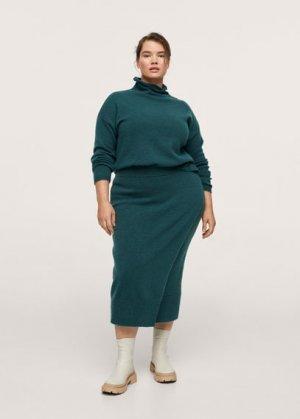 Миди-юбка из трикотажа - Peach Mango. Цвет: зеленый средний