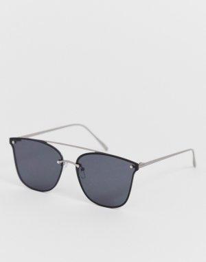 Солнцезащитные очки в металлической оправе -Черный Only & Sons