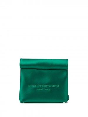 Сумка-пакет с логотипом Alexander Wang. Цвет: зеленый