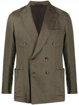 Двубортный пиджак Brioni. Цвет: зеленый