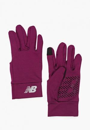 Перчатки New Balance Everyday Gloves. Цвет: фиолетовый