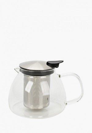 Чайник заварочный Walmer FLORAL, 0.8 л. Цвет: прозрачный