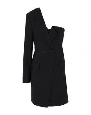 Короткое платье DESIGNERS, REMIX. Цвет: черный