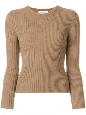 Пуловер в полоску рубчик Thom Browne