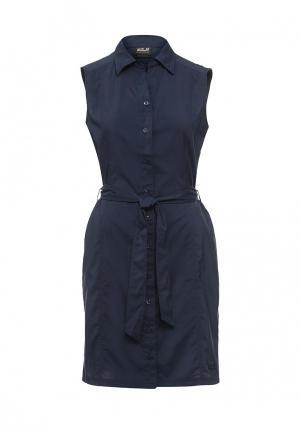 Платье Jack Wolfskin SONORA DRESS. Цвет: синий