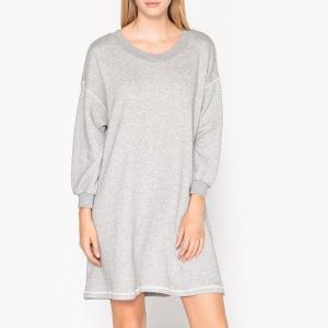Платье-пуловер миди с длинными рукавами LOKOBRIDGE AMERICAN VINTAGE. Цвет: серый меланж