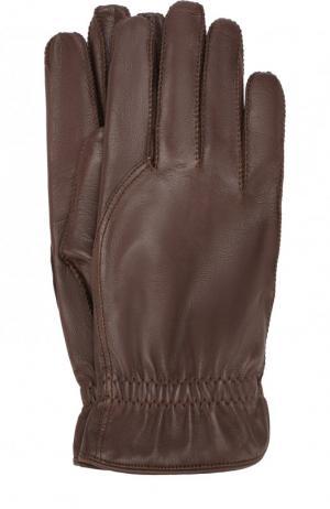 Кожаные перчатки Loro Piana. Цвет: коричневый