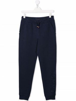 TEEN logo-debossed slim-fit track pants Tommy Hilfiger Junior. Цвет: синий