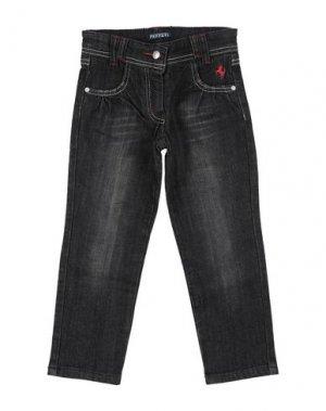 Джинсовые брюки FERRARI. Цвет: черный