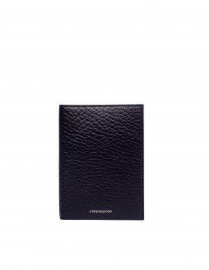 Черный кошелек Passport из фактурной кожи Ugo Cacciatori