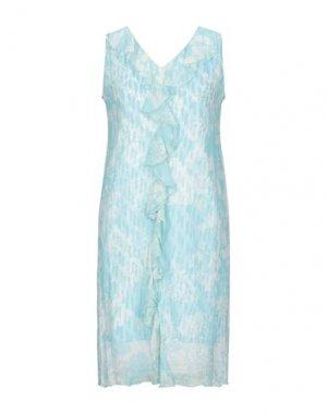 Короткое платье ALLUDE. Цвет: небесно-голубой