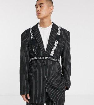 Пиджак в винтажном стиле со сбруей COLLUSION-Черный Collusion