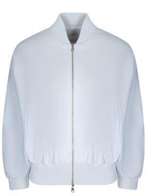 Куртка-бомбер кожаная Vionnet. Цвет: белый