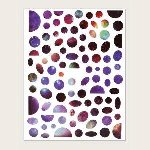 1 лист Наклейка для ногтей с рисунком галактаки SHEIN. Цвет: многоцветный