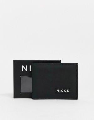 Черный бумажник в подарочной упаковке Nicce