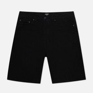 Мужские шорты Pontiac 13.5 Oz Carhartt WIP. Цвет: чёрный