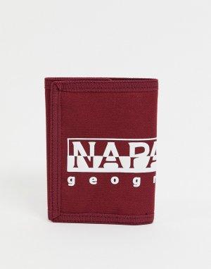 Бордовый кошелек Happy PC 2-Красный Napapijri