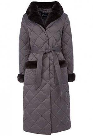 Пуховое пальто с отделкой мехом кролика Acasta