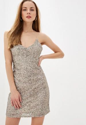 Платье Mango - SEQUIN. Цвет: золотой