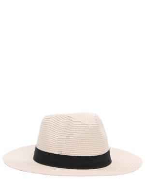 Шляпа пляжная Fedora MELISSA ODABASH. Цвет: бежевый